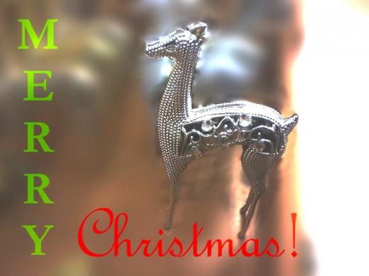 Merry Christmas from metal reindeer