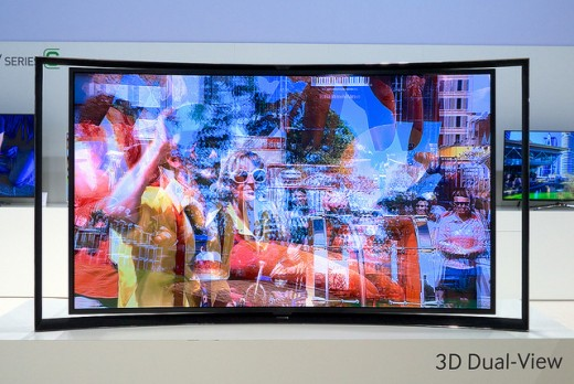 Samsung Curved TV 3D Dual-View