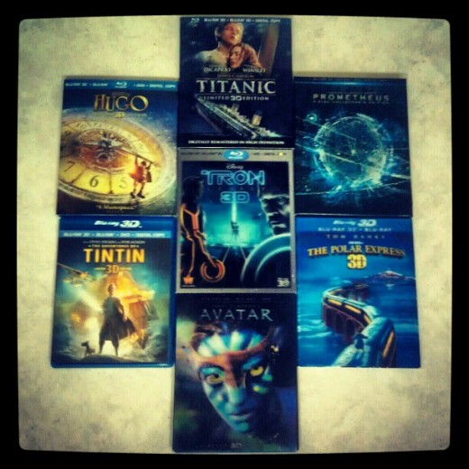Collection of Popular 3D Movies