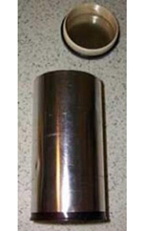 Blank tea tin