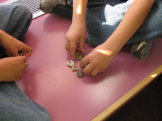 Spelling with River Rocks
