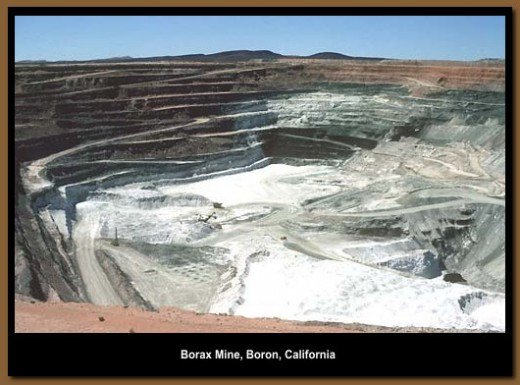 A Borax mining area in California.