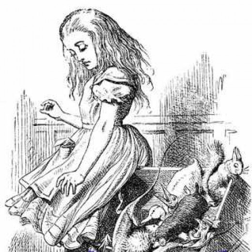 Images such as this classic from Alice in Wonderland are public domain.