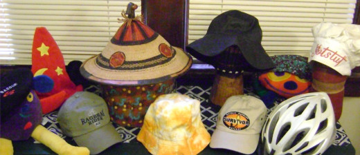 A small collection of the hats I use to take on a variety of roles to complete tasks...can you figure out which hat goes with what?