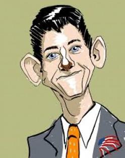 Politician Paul Ryan cartoon