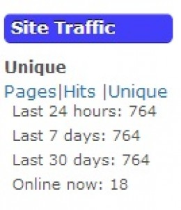 Widget display in Blog