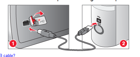 It is now safe to plug power and your usb adapter into your printer.   Plug power in first, and power on the printer, then plug the usb from your printer to your computer, and wait for your computer to detect it then click continue.