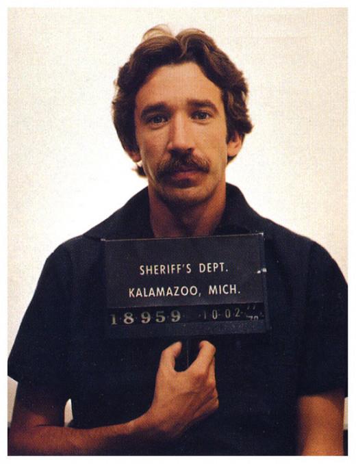 Cocaine trafficking Tim Allen - Winner for best mustache in mug shot - 1978