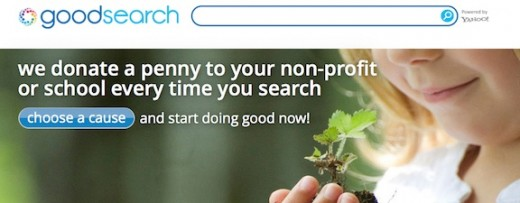 Goodsearch kills two birds with one stone: you can search for information you need and donate to your favorite cause at the same time!
