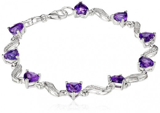 Sterling Silver and Amethyst Go Well in a Bracelet