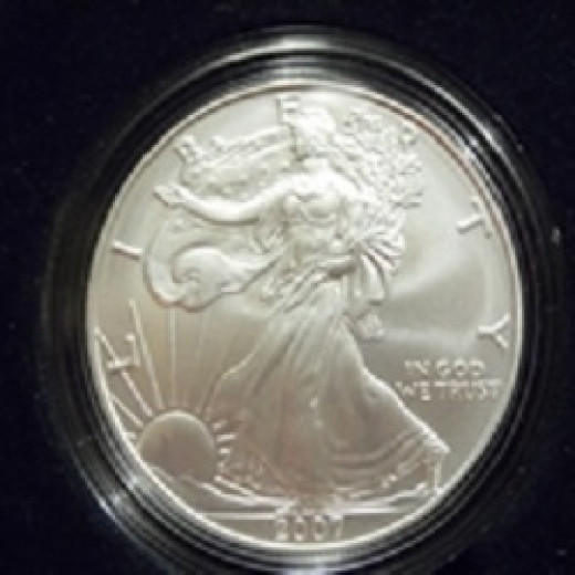 This is a silver bullion coin from the United States Mint.