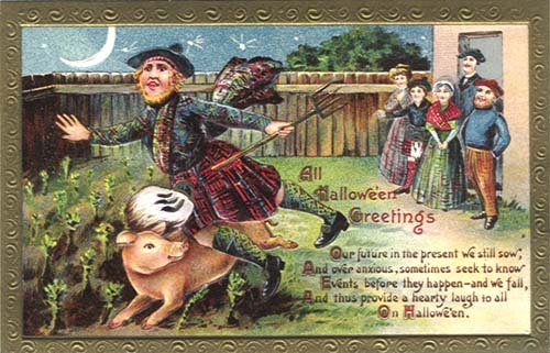 Scottish inspired postcards were popular in America during the late 1800's and early 1900's.