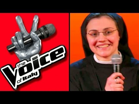 Sister Cristina Scuccia during her the Voice Italy days.