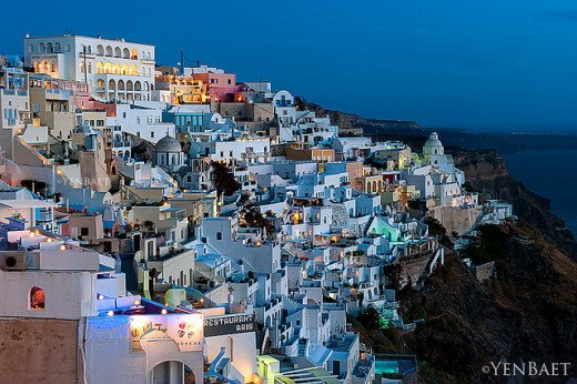 Fira at twilight.