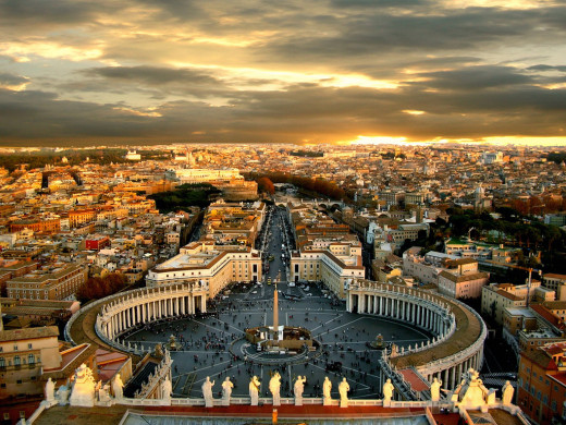 The 'Eternal City' is also a place for eternal love.