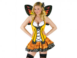 Should face be painted or hair colored if dressing up like a butterfly?