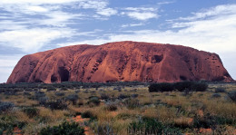 Uluru/Ayers Rock, Northern Territory, Australia. Large sandstone  rook formation.