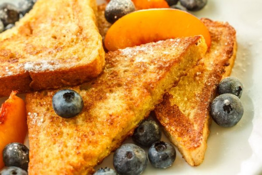 French Toast with Fruit on a Sunday Morning