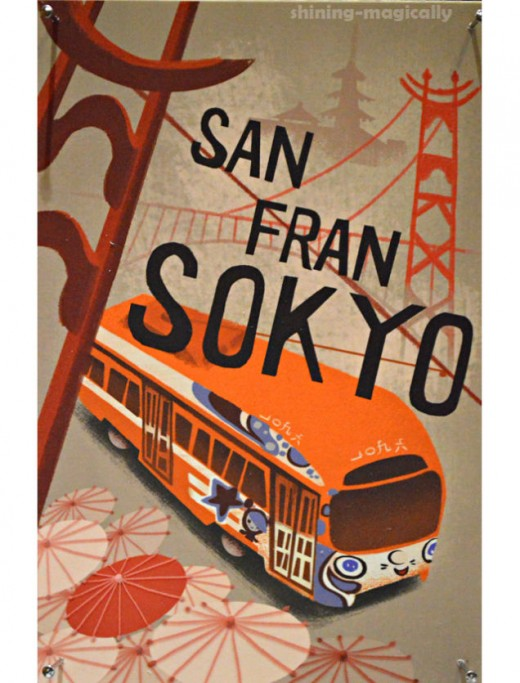 Early concept art for San Fransokyo