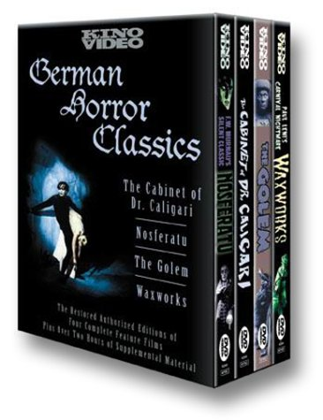 Set of 4 films (Nosferatu, The Cabinet of Dr. Caligari, Waxworks, and The Golem) from the German Expressionist movement of the 1920s. Priced at $40 +