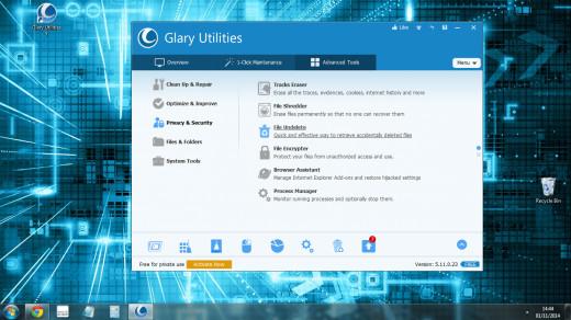 Screenshot of Glary utilities