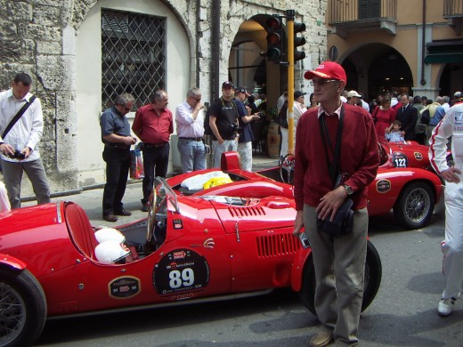 and my Dad in his red Mille Miglia cap!