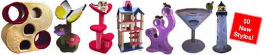 Just a few of the styles and types of creative cat furniture available at