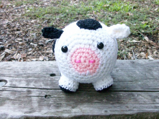 Roly-Poly Crocheted Cow