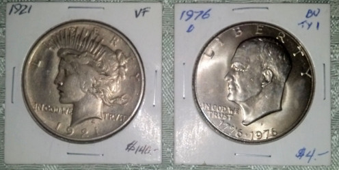 I purchased these from a coin dealer at a Florida Flea Market.