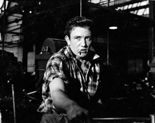 Albert Finney in his breakthrough role in 'Saturday Night and Sunday Morning'.