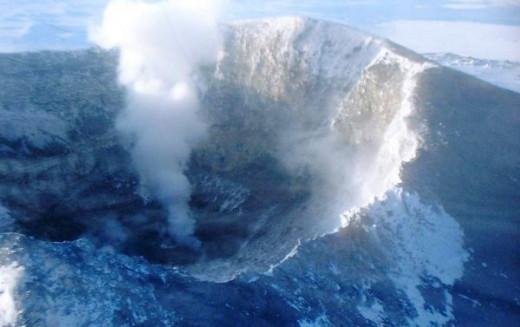 Mt Erebus Crater