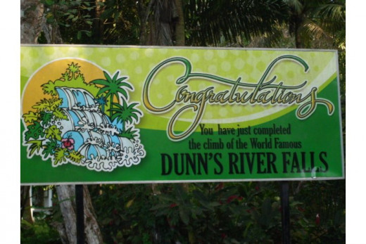 My reward for having completed the Dunns River Falls climb
