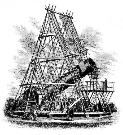 Herschel's 40 foot telescope