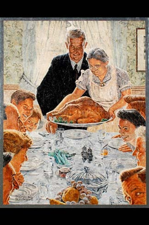 Mural replica of a Norman Rockwell painting.  Author: Gary Halvorson