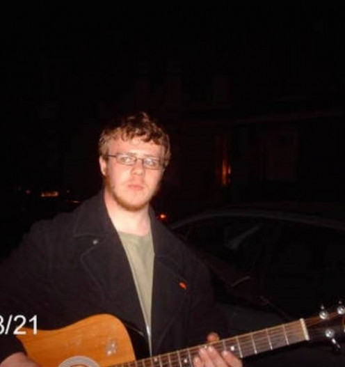 At 18 years old I was rarely seen without a guitar.