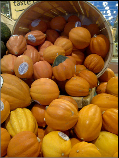 Fall Scene: Pumpkins