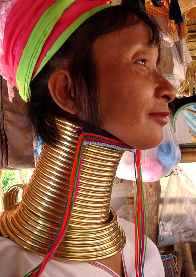Woman from a Chiang Rai hill tribe.