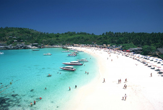 Beautiful powdery- white beach in Phuket.