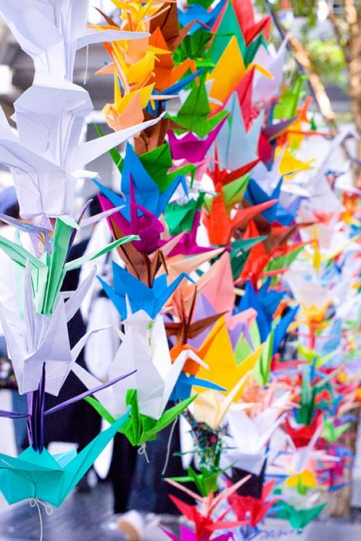 1000 Kraniche für Japan // 1000 Cranes