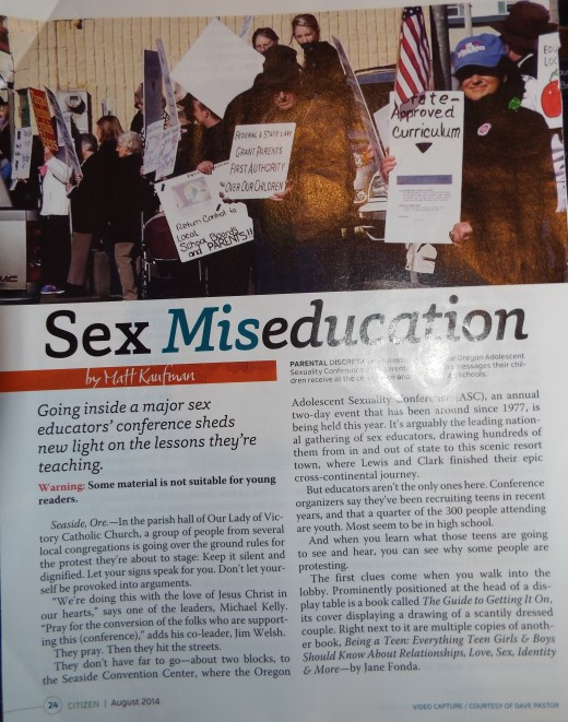 August 2014 article: what lessons are being taught at a major sex educator's conference.