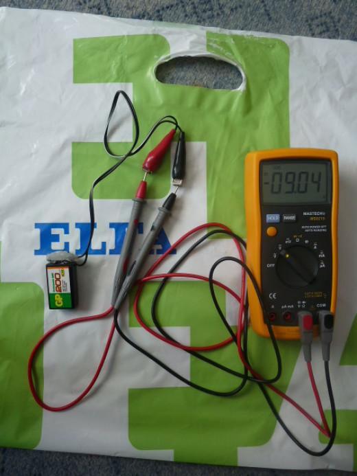 Measuring Voltage on Digital Multimeter