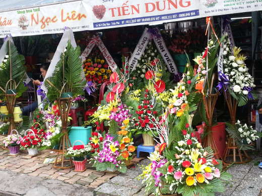 A flower shop outside Han Market