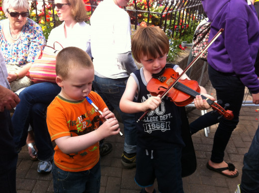 My son and little brother made 40Euro in just 10 minutes at an Irish music festival. They were just messing around and i could'nt believe they made money at all.