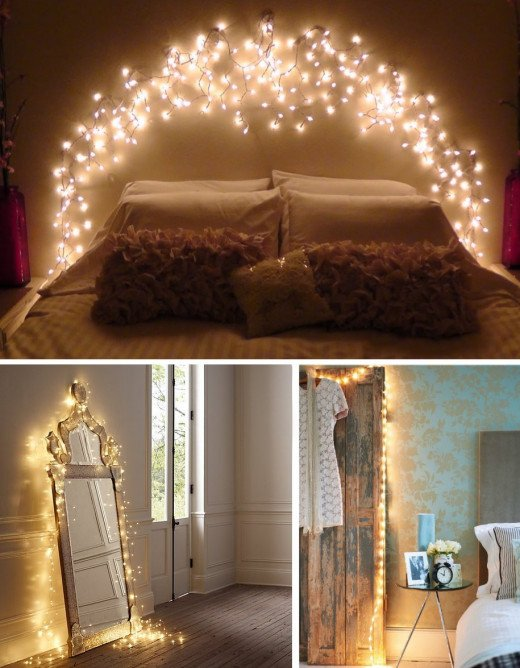 decorative string lights for teen girl bedroom