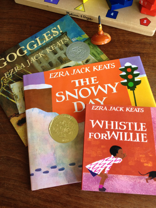 After The Snowy Day, Whistle for Willie and Goggles are our favorite Ezra Jack Keats stories