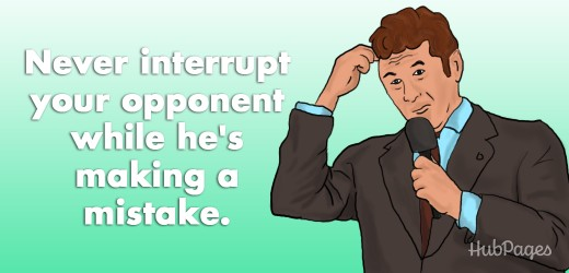 "One status suggestion: ""Never interrupt your opponent while he's making a mistake."""