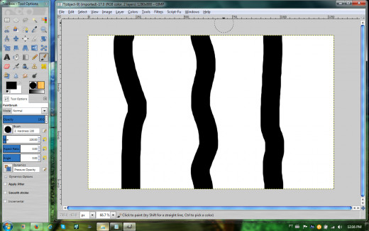 Wavy lines added