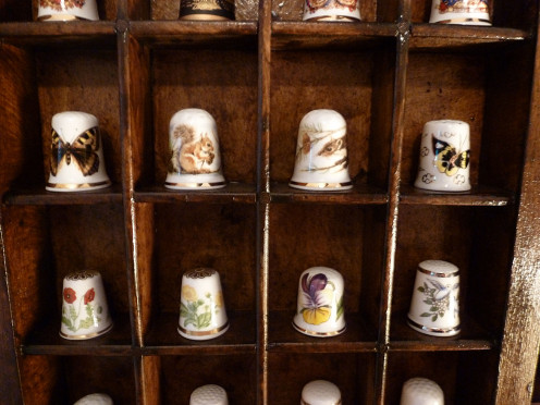 Just a few of the thimbles