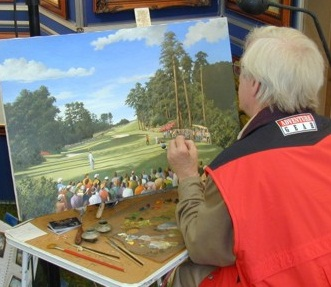 An artist working on a painting. This might appreciate in value eventually. Certainly it will have a better chance than mass produced 'limited' editions.
