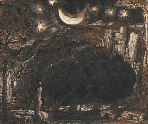 Samuel Palmer. I dream dreams of moons and stars and poems limned with light.
